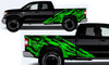 Toyota Tundra TRD Truck Vinyl Decal Graphics Custom Green Skull Design
