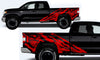 Toyota Tundra TRD Truck Vinyl Decal Graphics Custom Red Skull Design