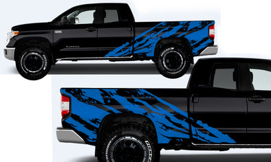 Toyota Tundra TRD Truck Vinyl Decal Graphics Custom Blue Design