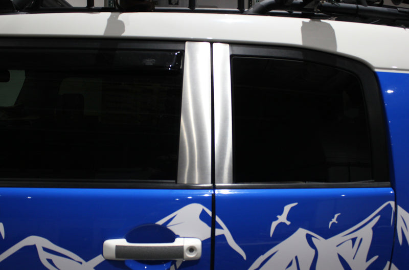 Toyota FJ Cruiser TRD Truck Vinyl Decal Graphics Custom Silver Door Pillars Design