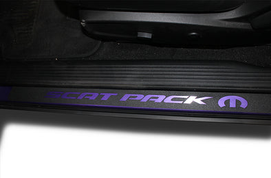 Dodge Challenger Car Vinyl Decal Custom Graphics Purple Door Sill Design