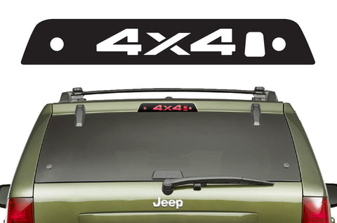 Jeep Grand Cherokee (2005-2007) Custom Vinyl Decal Kit for 3rd Brakelight - 4X4