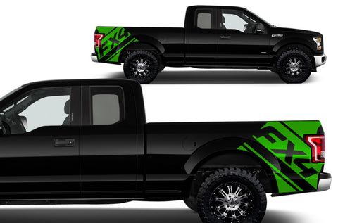 Ford F-150 (2015-2017) Vinyl Rear Decal Wrap Kit - FX4