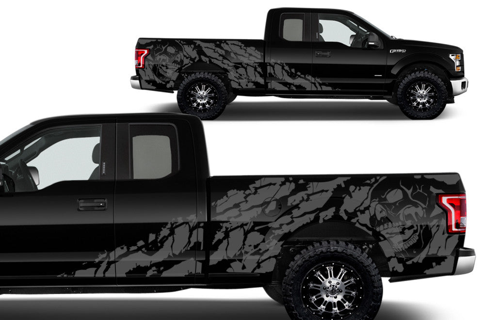 ford     supercab  bed vinyl decal wrap kit nightmare factory crafts