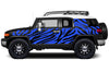 Toyota FJ Cruiser TRD Truck Vinyl Decal Graphics Custom Blue Design