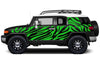 Toyota FJ Cruiser TRD Truck Vinyl Decal Graphics Custom Green Design
