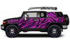 Toyota FJ Cruiser TRD Truck Vinyl Decal Graphics Custom Pink Design