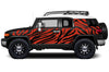 Toyota FJ Cruiser TRD Truck Vinyl Decal Graphics Custom Red Design