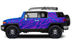 Toyota FJ Cruiser TRD Truck Vinyl Decal Graphics Custom Purple Design