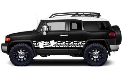 Toyota FJ Cruiser TRD Truck Vinyl Decal Graphics Custom White Stripe Design