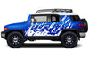 Toyota FJ Cruiser TRD Truck Vinyl Decal Graphics Custom White Design