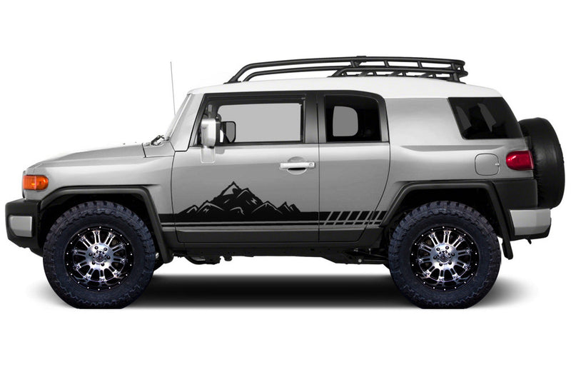 Toyota FJ Cruiser TRD Truck Vinyl Decal Graphics Custom Black Mountain Design