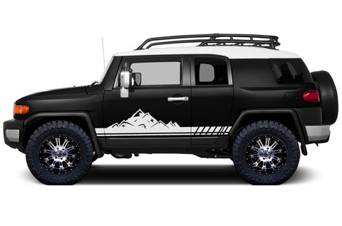 Toyota FJ Cruiser (2007-2014) Custom Vinyl Decal Wrap Kit - MOUNTAIN STRIPE