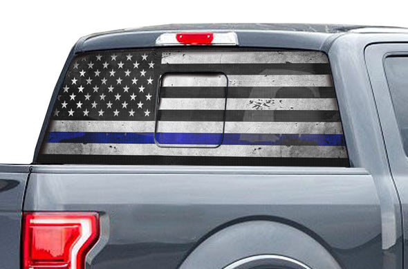 Ford Raptor F-150 F150 2015 2016 2017 2018 Truck Vinyl Decal Graphics Wrap Kit Factory Crafts Custom Blue American Flag America