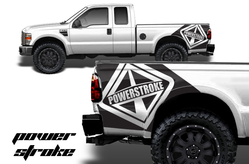 Ford F Custom Vinyl Decal Wrap Kit NIGHTMARE - Custom vinyl stickers for trucks