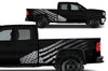 GMC Sierra Vehicle Vinyl Truck Decal Decals Factory Crafts Graphics Custom American Flag America Silver