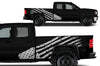 GMC Sierra Vehicle Vinyl Truck Decal Decals Factory Crafts Graphics Custom American Flag America White
