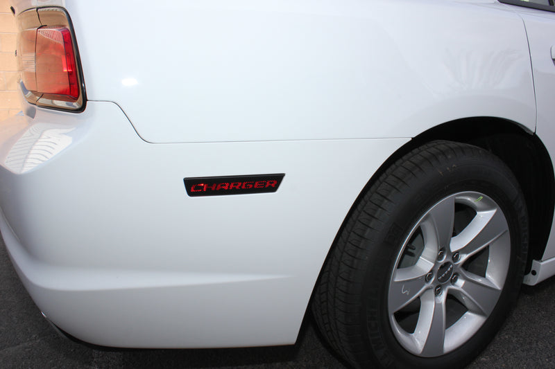Dodge Charger Car Vinyl Decal Custom Graphics Black Side Marker Design