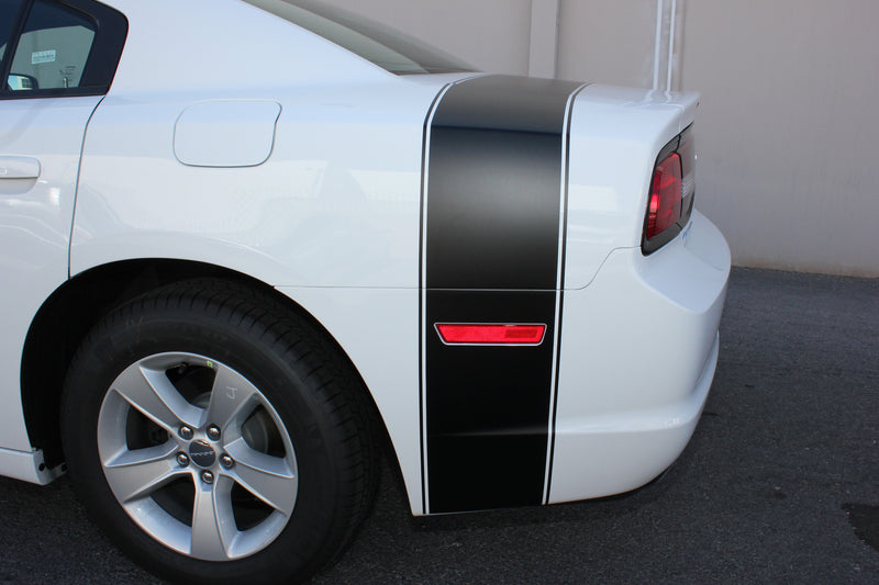 Dodge Charger Car Vinyl Decal Custom Graphics Black Design