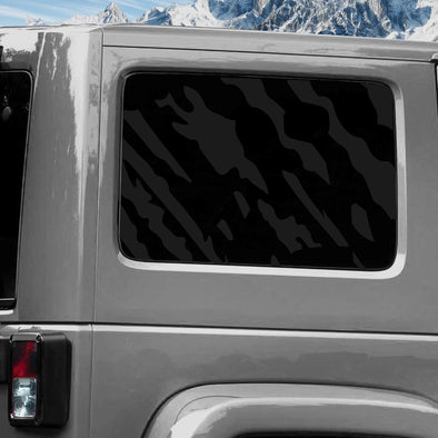 Jeep Wrangler (2011-2020) 4-Door Rear Window Wrap Custom Vinyl Decal Kit - SPLASH