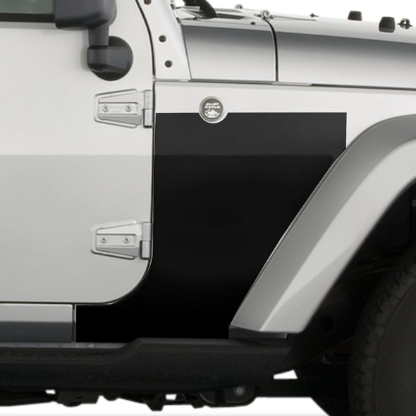 Jeep Wrangler (2007-2020) 4-Door Front Fender Custom Vinyl Decal Kit - BLACKOUT