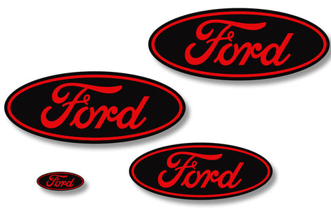 Ford F-150 (2009-2014) Custom Vinyl Decal Kit - Emblem Overlays
