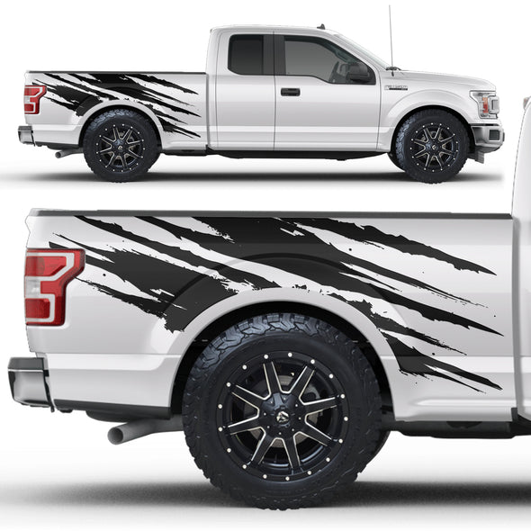 Ford F-150 (2017-2019) Vinyl Side Decal Wrap Kit - RIPPED