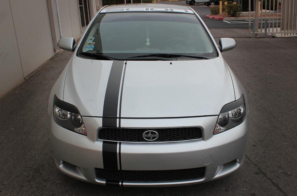 Scion Tc Custom >> Scion Tc 2005 2010 Custom Vinyl Decal Wrap Kit Full Body Euro Stripe