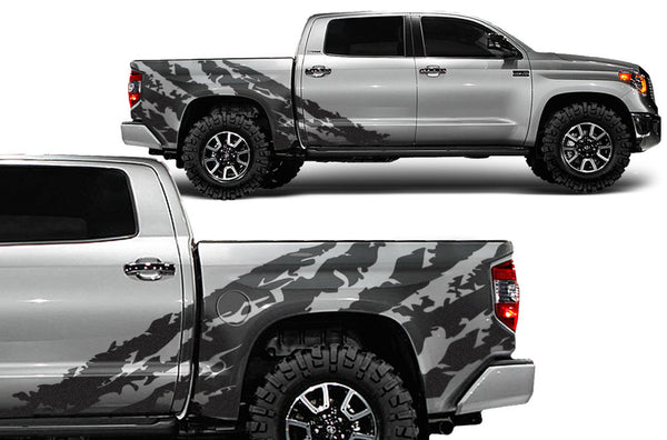 Toyota Tundra 2014 2015 Rear Decal Shredded Factory Crafts
