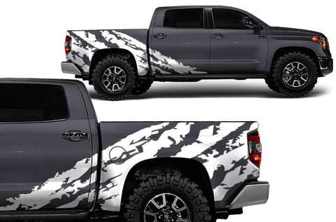 Toyota Tundra CrewMax (2014-2016) Custom Vinyl Decal Wrap Kit - SHREDDED