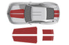 Chevy Chevrolet Camaro Car Decal Vinyl Graphics Red Stripe Design