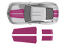 Chevy Chevrolet Camaro Car Decal Vinyl Graphics Pink Stripe Design