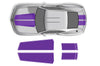 Chevy Chevrolet Camaro Car Decal Vinyl Graphics Purple Stripe Design