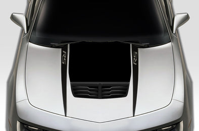 Chevy Chevrolet Camaro 2010 2011 2012 2013 2014 2015 Car Decal Vinyl Graphics Black Design Made in USA RS Hood