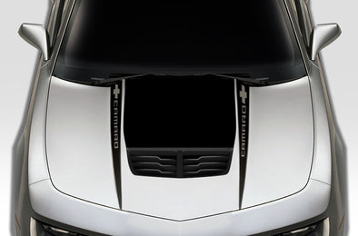 Chevy Chevrolet Camaro 2010 2011 2012 2013 2014 2015 Car Decal Vinyl Graphics Black Design Made in USA Hood
