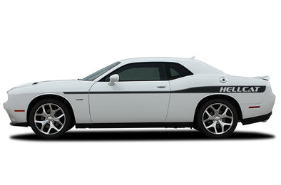 Dodge Challenger Car Vinyl Decal Custom Graphics Black Hellcat Design