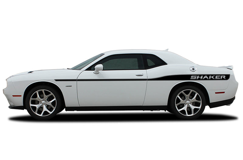 Dodge Challenger Car Vinyl Decal Custom Graphics Black Shaker Design