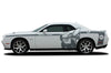 Dodge Challenger Car Vinyl Decal Custom Graphics Gray Super Bee Design