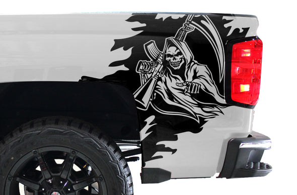 Chevy Chevrolet  Silverado 2014 2015 2016 2017 Truck Decal Vinyl Graphics Black Design