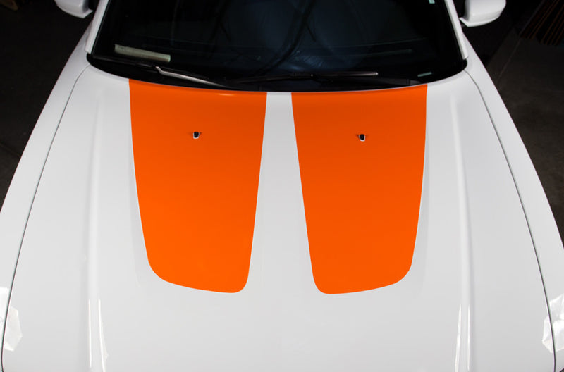 Dodge Charger Car Vinyl Decal Custom Graphics Orange Hood Design
