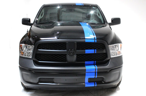 Dodge Ram (2009-2014) Custom Vinyl Decal Wrap Kit - Full Body Euro Stripe