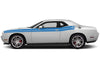 Dodge Challenger Car Vinyl Decal Custom Graphics Blue Stripe Design