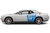 Dodge Challenger Car Vinyl Decal Custom Graphics Blue Super Bee Design