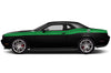 Dodge Challenger Car Vinyl Decal Custom Graphics Green Stripe Design