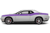 Dodge Challenger Car Vinyl Decal Custom Graphics Purple Stripe Design