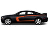 Dodge Charger Car Vinyl Decal Custom Graphics Orange Stripe Design