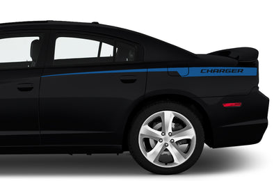 Dodge Charger Car Vinyl Decal Custom Graphics Blue Stripe Design
