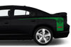 Dodge Charger Car Vinyl Decal Custom Graphics Green Stripe Design