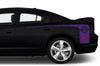 Dodge Charger Car Vinyl Decal Custom Graphics Purple Stripe Design