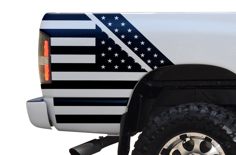 Dodge Ram 1500 2500 Truck Vinyl Decal Custom Graphics Black American Flag Design